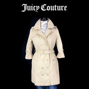 JUICY COUTURE- Double Breast 3/4 Ruffle Sleeve